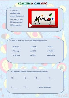 Interactive worksheet Joan Miró