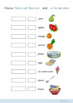Interactive worksheet There is an apple