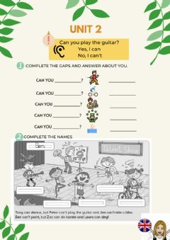 Interactive worksheet Can you?
