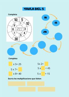 Interactive worksheet Taula del 5