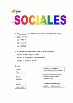 Interactive worksheet Sociales