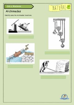 Interactive worksheet Archimedes Inventions