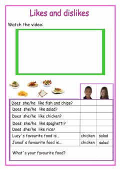 Interactive worksheet Does she-like...?