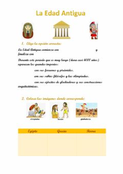 Interactive worksheet La edad antigua