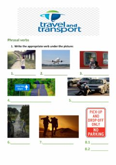 Ficha interactiva Vocabulary Travel and transport