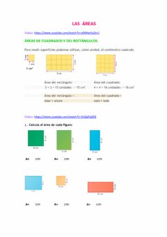Interactive worksheet Áreas
