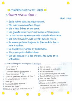 Interactive worksheet Compréhension orale
