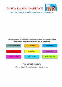 Interactive worksheet Visca la solidaritat