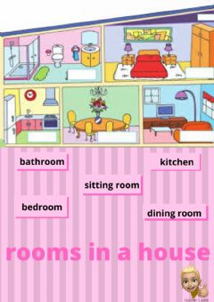 Ficha interactiva Rooms in a house