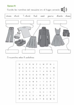 Ficha interactiva Clothes wordsearch
