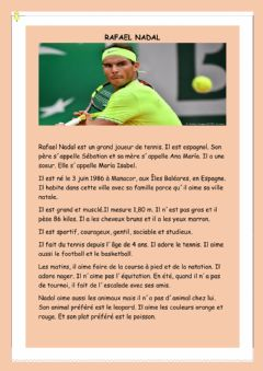 Interactive worksheet RAFAEL NADAL