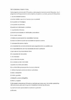 Interactive worksheet Examen de Economia