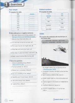 Ficha interactiva Simple Past and Dates