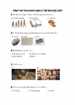 Interactive worksheet The Bronze Age