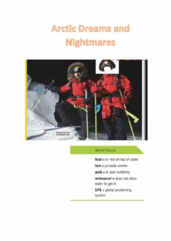 Interactive worksheet Reading arctic dreams and nightmares