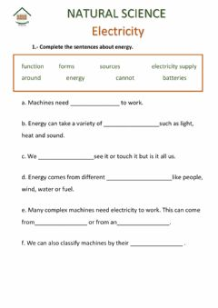 Interactive worksheet Activity book Natural Sc 4ºpg 52