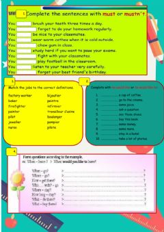 Interactive worksheet Worksheet Séquence 5e -Best job in the world-