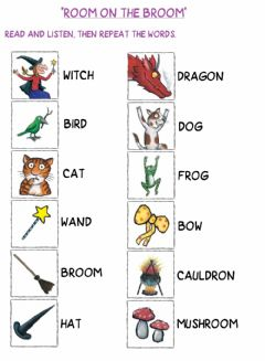 Interactive worksheet Room on the Broom