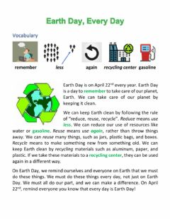 Interactive worksheet Earth Day, Every Day