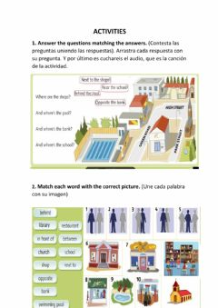 Interactive worksheet Unit 5 places and people