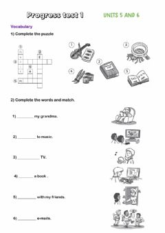 Interactive worksheet After school activities