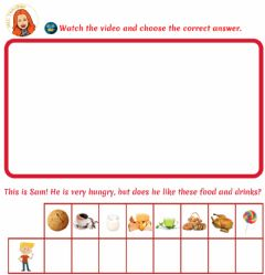 Interactive worksheet Sam's Hungry