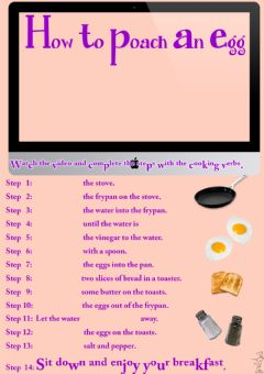 Interactive worksheet How to poach an egg