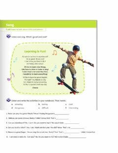 Interactive worksheet Learning New Things