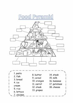 Ficha interactiva Food Pyramid