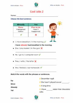 Interactive worksheet Movers