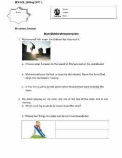 Interactive worksheet Friction 3