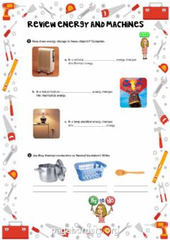 Interactive worksheet Review energy and machines