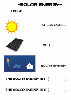 Interactive worksheet Solar and wind energy