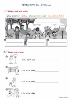 Ficha interactiva 2nd Primary - Review Unit 3.1