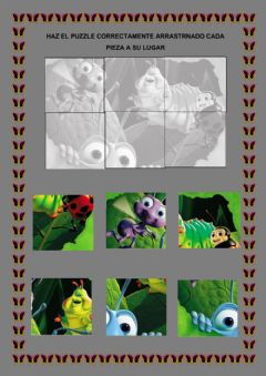 Interactive worksheet Puzzle Insectos
