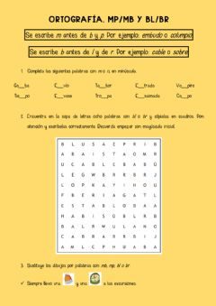 Interactive worksheet Mp-Mb y Bl-Br