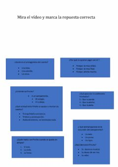 Interactive worksheet CUENTO PINCHO 4º