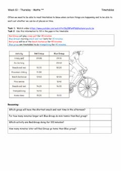 Interactive worksheet Week 10 - Thursday - Maths xx