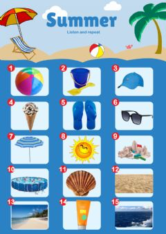 Interactive worksheet Summer vocabulary