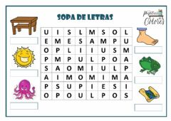 Interactive worksheet Sopa de letras