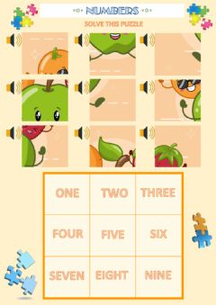 Ficha interactiva Fruits and numbers