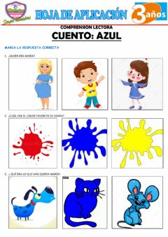 Interactive worksheet Comprensión lectora - AZUL