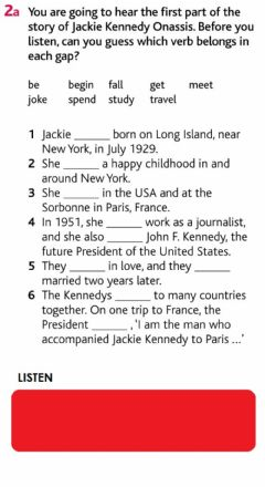 Interactive worksheet Jackie Kennedy - PAST SIMPLE