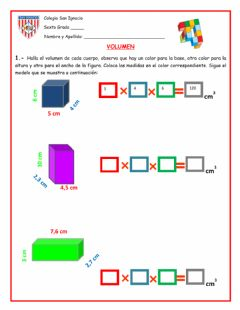 Interactive worksheet Calculo de volumen