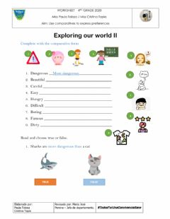 Interactive worksheet Exploring our world II