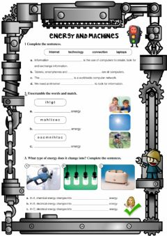 Interactive worksheet Energy and machines
