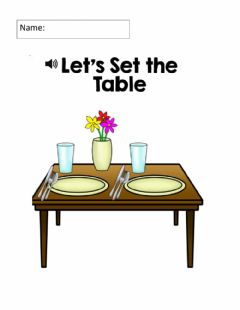Interactive worksheet Setting the table