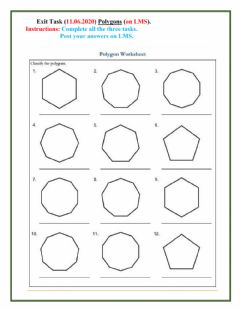 Interactive worksheet Polygon