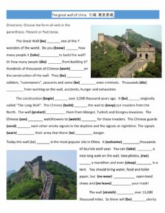 Interactive worksheet The Great Wall of China