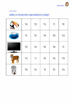 Interactive worksheet Letra T: ficha 5